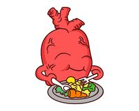 Ilustração saudável do vetor do coração Foto de Stock Royalty Free