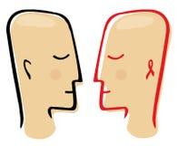 Ilustração saudável e HIV-contaminada do vetor de uma comunicação da pessoa Fotos de Stock