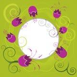 Ilustração sazonal do jardim de flores da mola Fotos de Stock