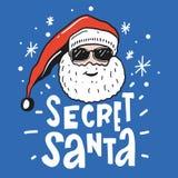 Ilustração secreta do vetor de Santa com Santa Claus ilustração do vetor