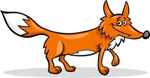 Ilustração selvagem dos desenhos animados da raposa Fotos de Stock Royalty Free