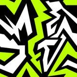 Ilustração sem emenda colorida do vetor da textura dos grafittis Imagens de Stock Royalty Free