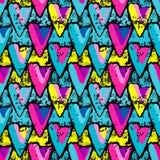 Ilustração sem emenda colorida Grunge do vetor do teste padrão dos grafittis Fotografia de Stock