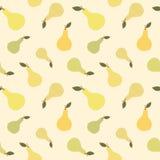 Ilustração sem emenda do fundo do teste padrão do fruto bonito da pera Imagem de Stock Royalty Free