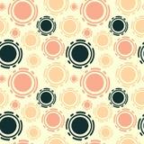 Ilustração sem emenda do fundo do teste padrão dos círculos coloridos abstratos ilustração stock