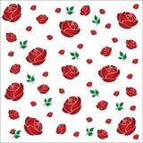 Ilustração sem emenda do teste padrão das rosas Foto de Stock Royalty Free