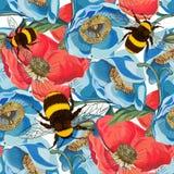 Ilustração sem emenda do teste padrão de flor foto de stock royalty free