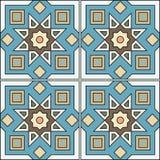 Ilustração sem emenda do teste padrão no estilo tradicional - como telhas portuguesas Imagem de Stock