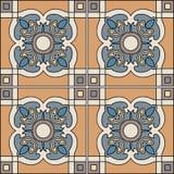 Ilustração sem emenda do teste padrão no estilo tradicional - como telhas portuguesas Imagem de Stock Royalty Free