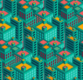 Ilustração sem emenda do vetor do teste padrão da geometria moderna da cidade Imagem de Stock