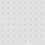 Ilustração sem emenda do vetor do fundo do teste padrão da grade floral abstrata das flores do ornamento da tração Foto de Stock