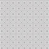 Ilustração sem emenda do vetor do fundo do teste padrão da grade floral abstrata das folhas das flores do ornamento da tração Foto de Stock