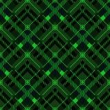 Ilustração sem emenda eps10 do vetor do teste padrão pequeno diagonal verde da textura da tela da tartã ilustração do vetor