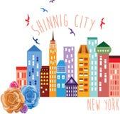 Ilustração shinning do vetor de New York City ilustração do vetor