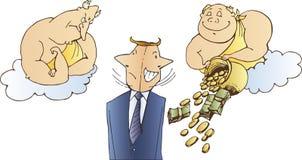 Ilustração simbólica do negócio Foto de Stock