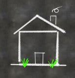 Ilustração simples da casa Fotos de Stock Royalty Free
