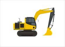 Ilustração simples da máquina escavadora Foto de Stock