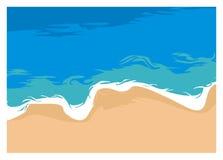 Ilustração simples da praia silenciosa, vista superior Imagens de Stock Royalty Free