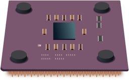 Ilustração simples da unidade do processador central Foto de Stock Royalty Free
