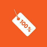 Ilustração simples do ícone livre de 100% ilustração stock