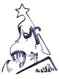 Ilustração simplificada da natividade ilustração do vetor