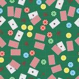 ilustração sob a forma de um teste padrão sem emenda que consiste em um casino fotografia de stock royalty free