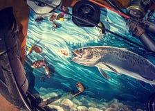 Ilustração sobre a pesca ilustração stock