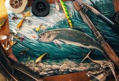 Ilustração sobre a pesca Fotos de Stock Royalty Free