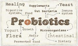 Ilustração sobre Probiotics ilustração stock