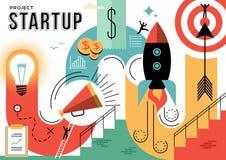 Ilustração Startup do conceito do projeto do negócio Imagem de Stock Royalty Free