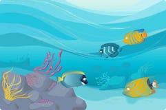 Ilustração subaquática Foto de Stock