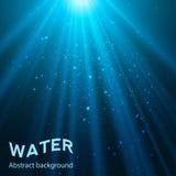 Ilustração subaquática do vetor do fundo Fotos de Stock Royalty Free