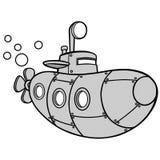 Ilustração submarina amarela Imagem de Stock Royalty Free