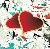 Ilustração suja abstrata do coração do fundo Fotografia de Stock Royalty Free