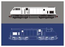 Ilustração técnica locomotiva do desenho Fotografia de Stock Royalty Free