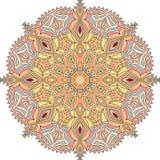 Ilustração tibetana da mandala Ilustração do vetor pastels Imagem de Stock