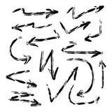 Ilustração tirada do grupo da seta isolada no fundo branco ilustração royalty free