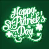 Ilustração tirada do vetor do projeto de rotulação do dia do ` s de St Patrick mão feliz Aperfeiçoe anunciando, cartaz, anúncio,  ilustração royalty free