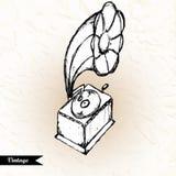 Ilustração tirada do vetor mão retro Imagens de Stock Royalty Free