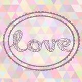 Ilustração tirada mão com sinal do amor do ornamento Foto de Stock