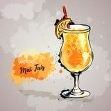 Ilustração tirada mão de tais do MAI do cocktail Foto de Stock