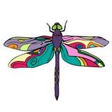 Ilustração tirada mão do ícone do garrancho do vetor de inseto Foto de Stock