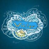 Ilustração tirada mão do inverno do vetor Ilustração do Vetor