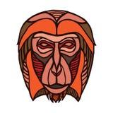 Ilustração tirada mão do macaco Foto de Stock