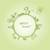 Planeta verde Imagens de Stock