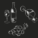 Ilustração tirada mão do vinho ilustração do vetor