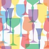 Ilustração transparente colorida do vetor dos produtos vidreiros Fotos de Stock Royalty Free