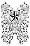 Ilustração tribal da arte das estrelas - tatuagem Fotos de Stock Royalty Free