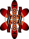 Ilustração tribal da flor Fotos de Stock Royalty Free
