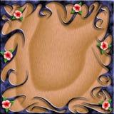 Ilustração tribal do fundo da flor Imagens de Stock Royalty Free